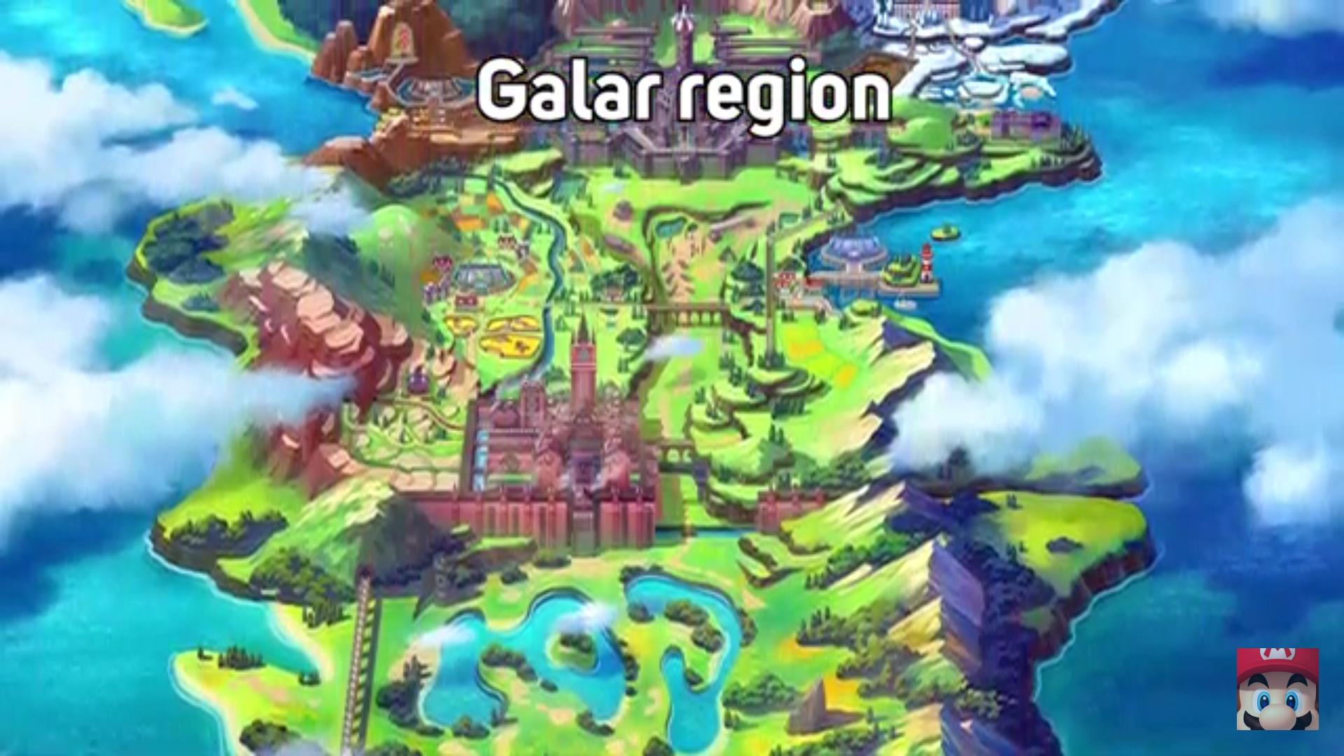 Galar Region Pokemon Sword and Shield